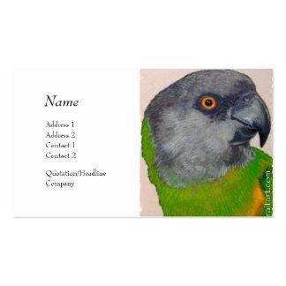 Tarjeta del perfil - loro tarjetas de visita