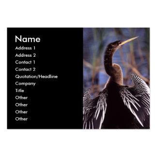 tarjeta del perfil o de visita anhinga plantilla de tarjeta de visita