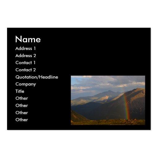 tarjeta del perfil o de visita, arco iris tarjetas de visita grandes