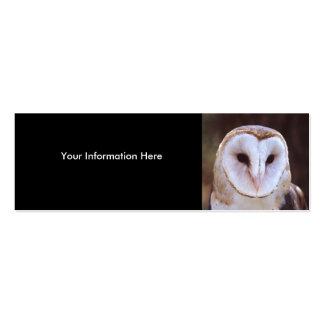 tarjeta del perfil o de visita, búho tarjetas de visita mini