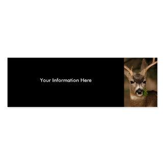tarjeta del perfil o de visita, ciervo tarjetas personales