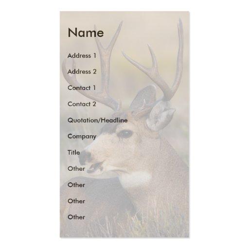 tarjeta del perfil o de visita, ciervo tarjeta de visita