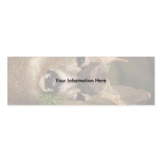 tarjeta del perfil o de visita, ciervo tarjeta de negocio
