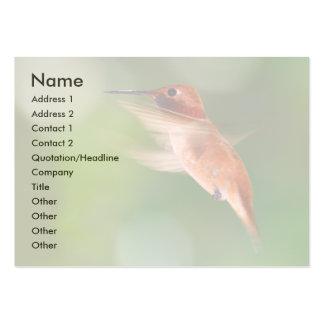 tarjeta del perfil o de visita, colibrí tarjeta de negocio