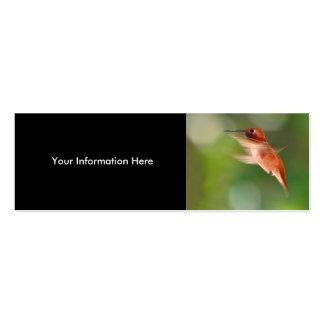tarjeta del perfil o de visita, colibrí tarjetas de visita