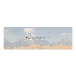 tarjeta del perfil o de visita, curva del oxbow tarjetas de visita mini
