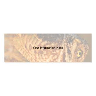 tarjeta del perfil o de visita, madriguera el búho tarjetas de visita mini