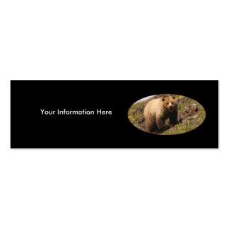 tarjeta del perfil o de visita, oso grizzly plantilla de tarjeta de visita