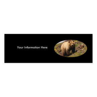 tarjeta del perfil o de visita, oso grizzly tarjeta de visita