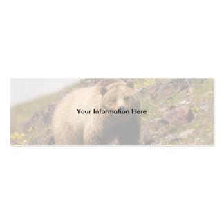 tarjeta del perfil o de visita, oso grizzly plantilla de tarjeta de negocio