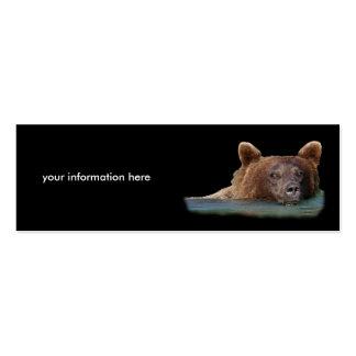 tarjeta del perfil o de visita, oso grizzly plantillas de tarjeta de negocio