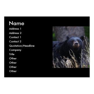 tarjeta del perfil o de visita, oso negro tarjetas de visita grandes