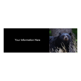 tarjeta del perfil o de visita, oso negro tarjetas de visita mini