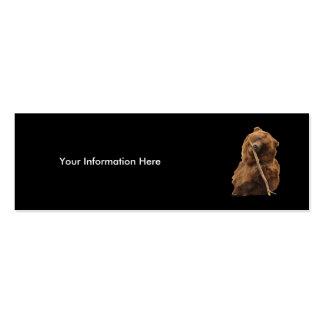 tarjeta del perfil o de visita, oso plantilla de tarjeta de negocio