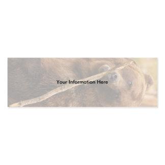 tarjeta del perfil o de visita, oso plantilla de tarjeta personal