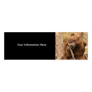 tarjeta del perfil o de visita, oso tarjetas de visita