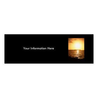 tarjeta del perfil o de visita, paisaje marino tarjetas de visita mini