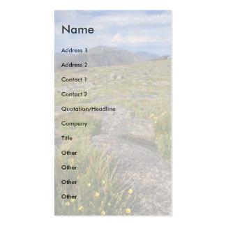 tarjeta del perfil o de visita, paisaje plantilla de tarjeta personal