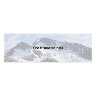 tarjeta del perfil o de visita, paisaje tarjetas de visita mini