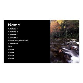 tarjeta del perfil o de visita, paisaje y cascada tarjeta de visita