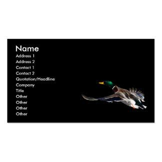 tarjeta del perfil o de visita, pato tarjetas de visita