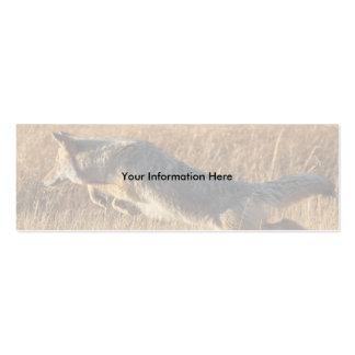 tarjeta del perfil o de visita, salto del coyote plantillas de tarjetas de visita
