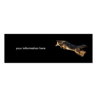 tarjeta del perfil o de visita, salto del coyote tarjeta personal