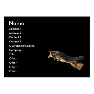 tarjeta del perfil o de visita, salto del coyote tarjeta de negocio