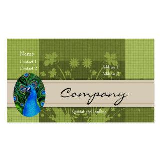 Tarjeta del perfil - pavo real tarjetas de visita