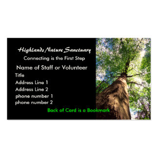 tarjeta del perfil, santuario de la naturaleza de tarjetas de visita