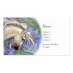 Tarjeta del perfil - unicornio tarjetas de visita