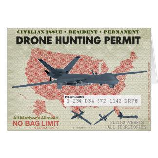 Tarjeta del permiso de la caza del abejón