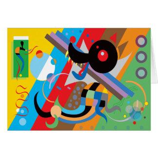 Tarjeta del perrito de Kandinsky