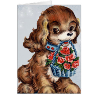 Tarjeta del perrito de la tarjeta del día de San