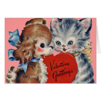 Tarjeta del perrito de la tarjeta del día de San V