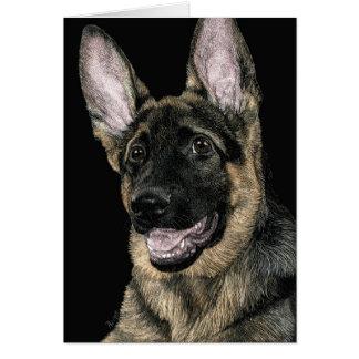 """Tarjeta del perrito del pastor alemán - """"Rommel """""""