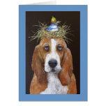 tarjeta del perro de afloramiento