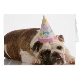 Tarjeta del perro de Bull del feliz cumpleaños