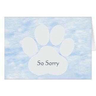 Tarjeta del perro de la condolencia
