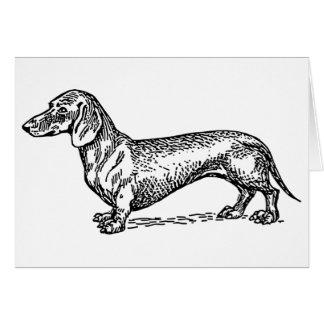 Tarjeta del perro de la salchicha de Frankfurt del
