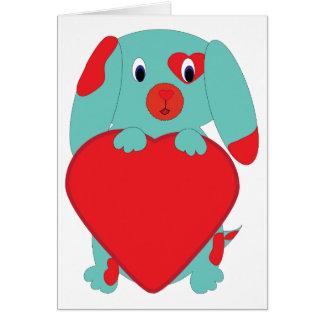 Tarjeta del perro de la tarjeta del día de San Val