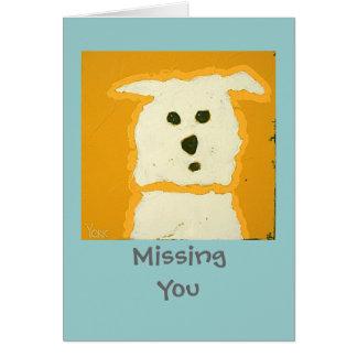 Tarjeta del perro de MissingYou