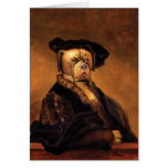 Tarjeta del perro de Rembrandt