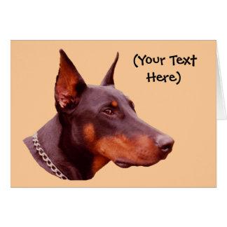 Tarjeta del perro del Pinscher del Doberman