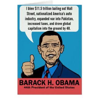 Tarjeta del personalizable de Barack Obama