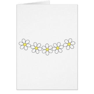 Tarjeta del personalizable de la cadena de flor de