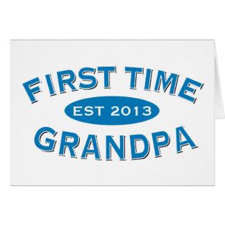 Tarjeta del personalizable del abuelo de la primer