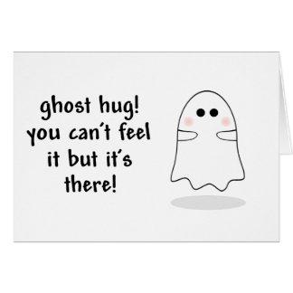 Tarjeta del personalizar del abrazo del fantasma
