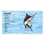 Tarjeta del pescador de la aguja plantilla de tarjeta de negocio