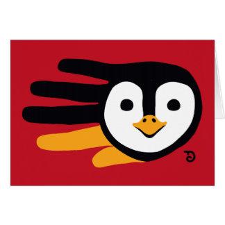 Tarjeta del pingüino